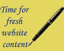 website copy , fresh content