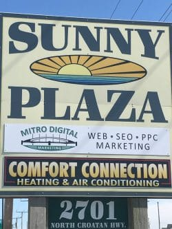 Sign at the Sunny Plaza
